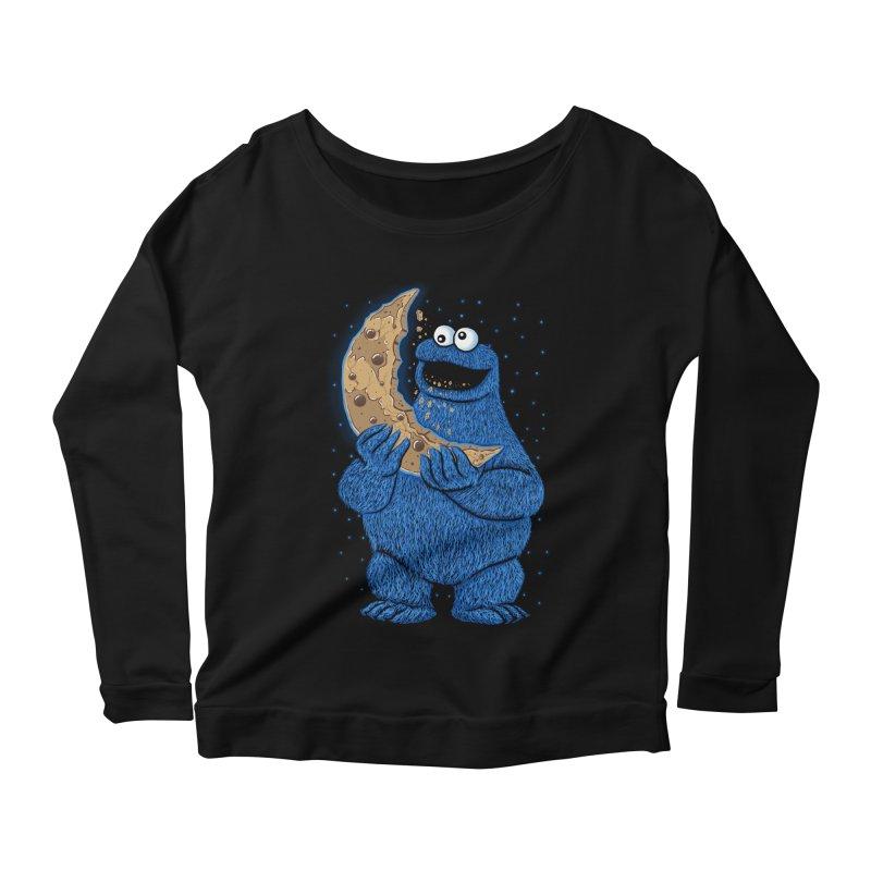 Cookie Moon Women's Scoop Neck Longsleeve T-Shirt by Fathi