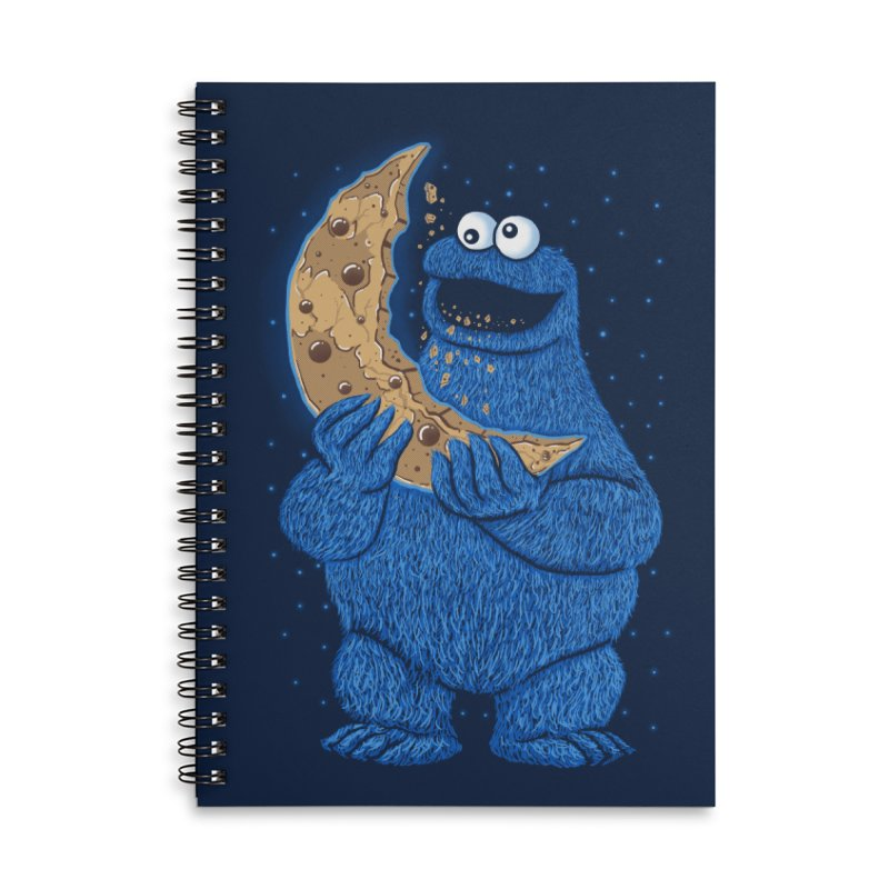 Cookie Moon Accessories Lined Spiral Notebook by Fathi