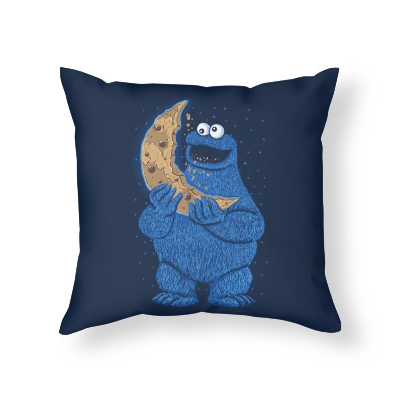 Cookie Moon Home Throw Pillow by Fathi