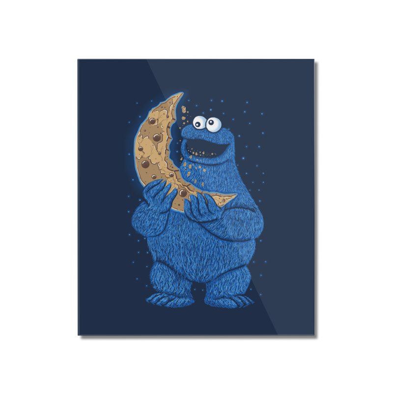 Cookie Moon Home Mounted Acrylic Print by Fathi