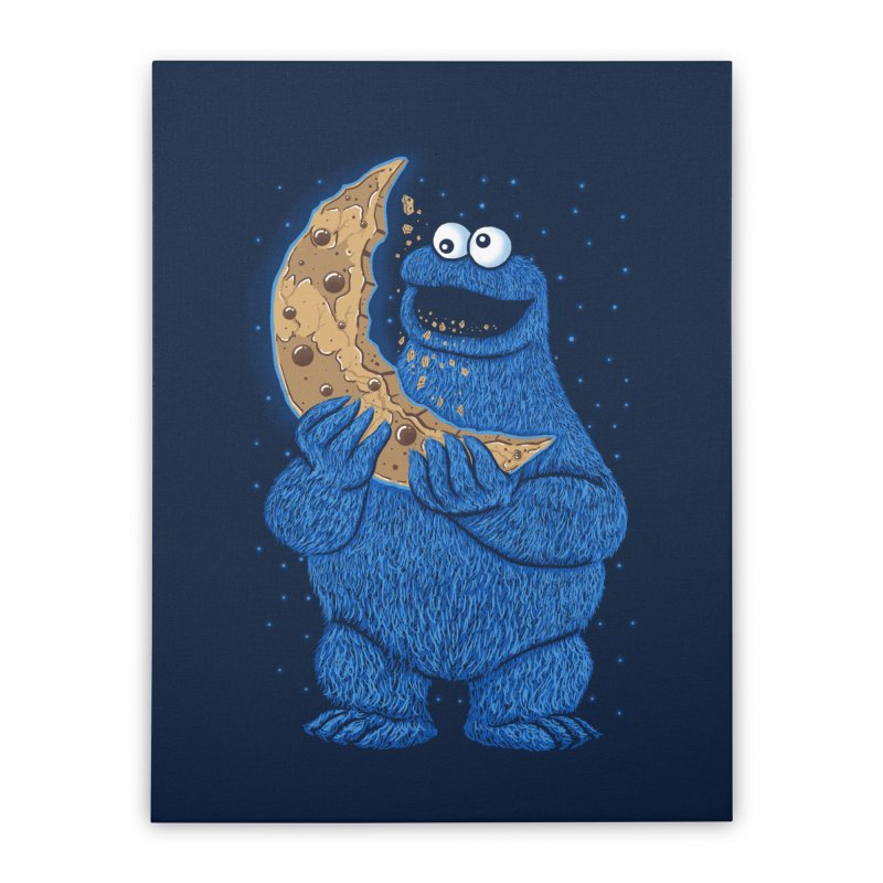 Cookie Moon Home Stretched Canvas by Fathi