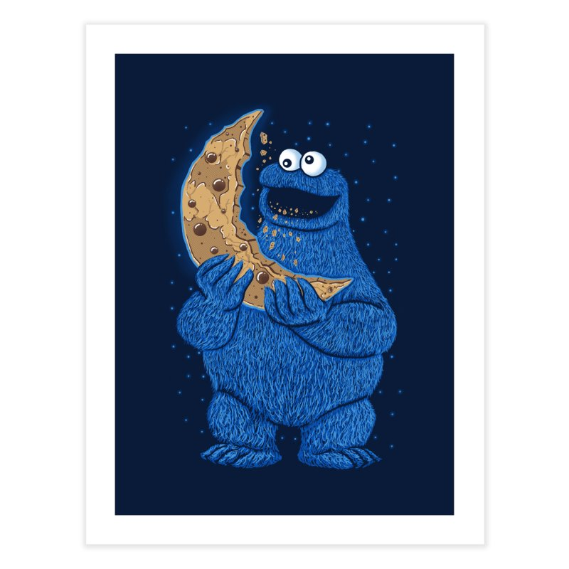 Cookie Moon Home Fine Art Print by Fathi
