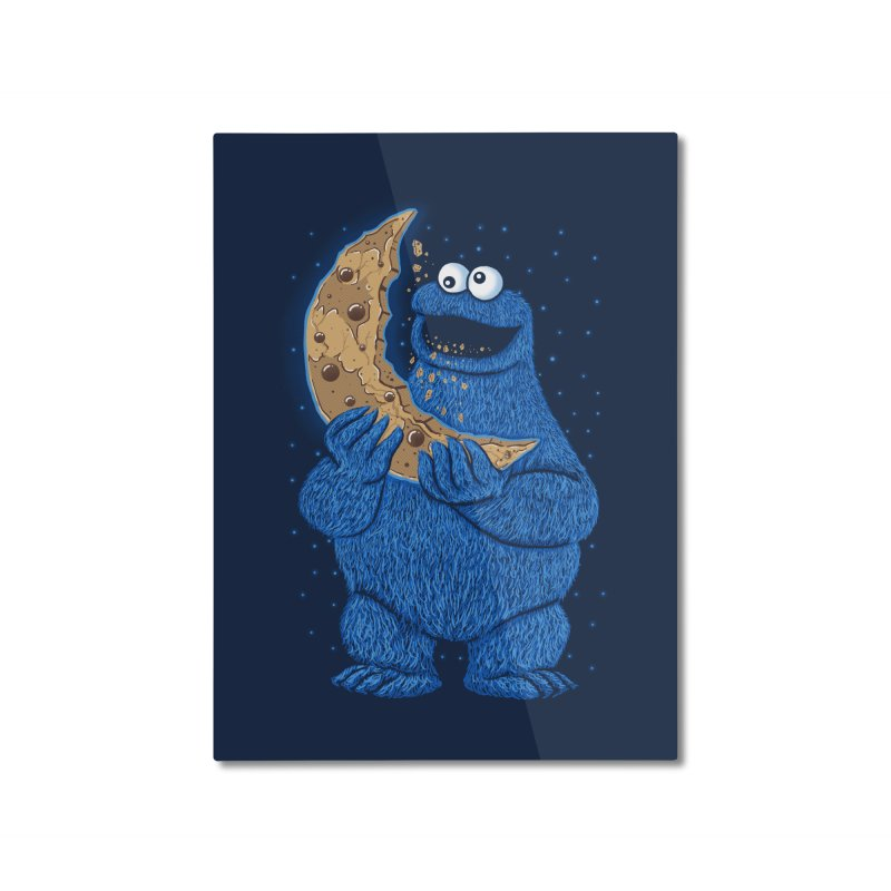 Cookie Moon Home Mounted Aluminum Print by Fathi