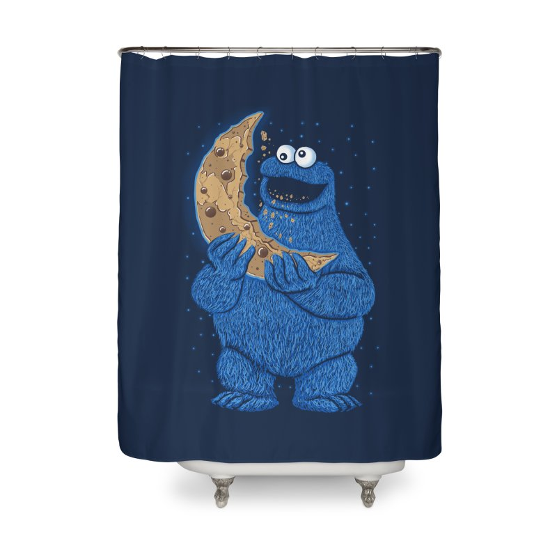 Cookie Moon Home Shower Curtain by Fathi