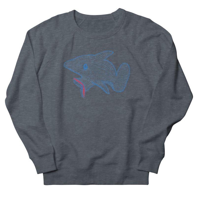 Shaaaark Women's French Terry Sweatshirt by Fathi