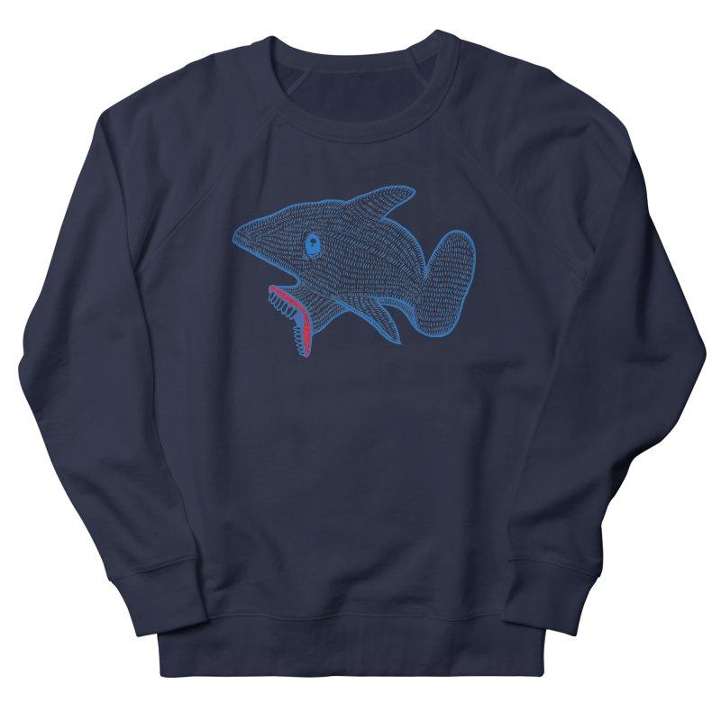 Shaaaark Men's French Terry Sweatshirt by Fathi