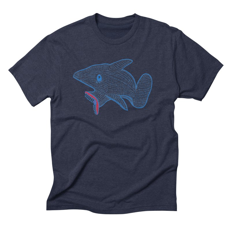 Shaaaark Men's Triblend T-Shirt by Fathi
