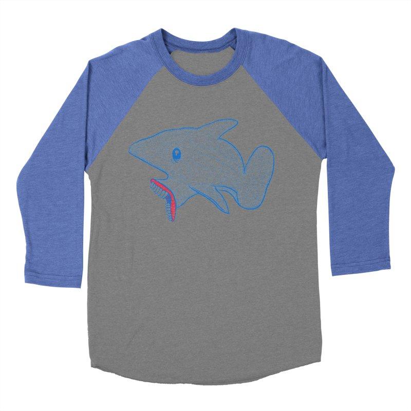 Shaaaark Women's Baseball Triblend Longsleeve T-Shirt by Fathi