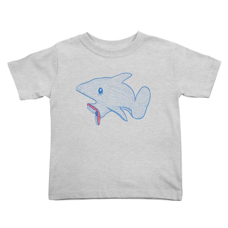 Shaaaark Kids Toddler T-Shirt by Fathi