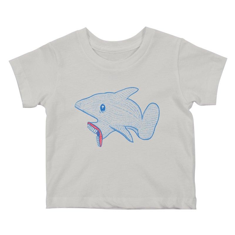 Shaaaark Kids Baby T-Shirt by Fathi
