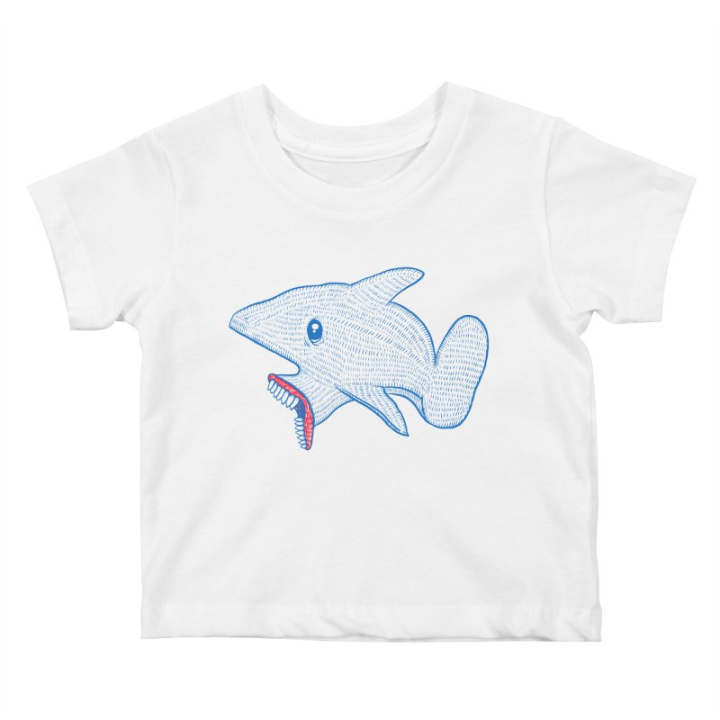 Shaaaark Kids Baby T-Shirt by Fathi