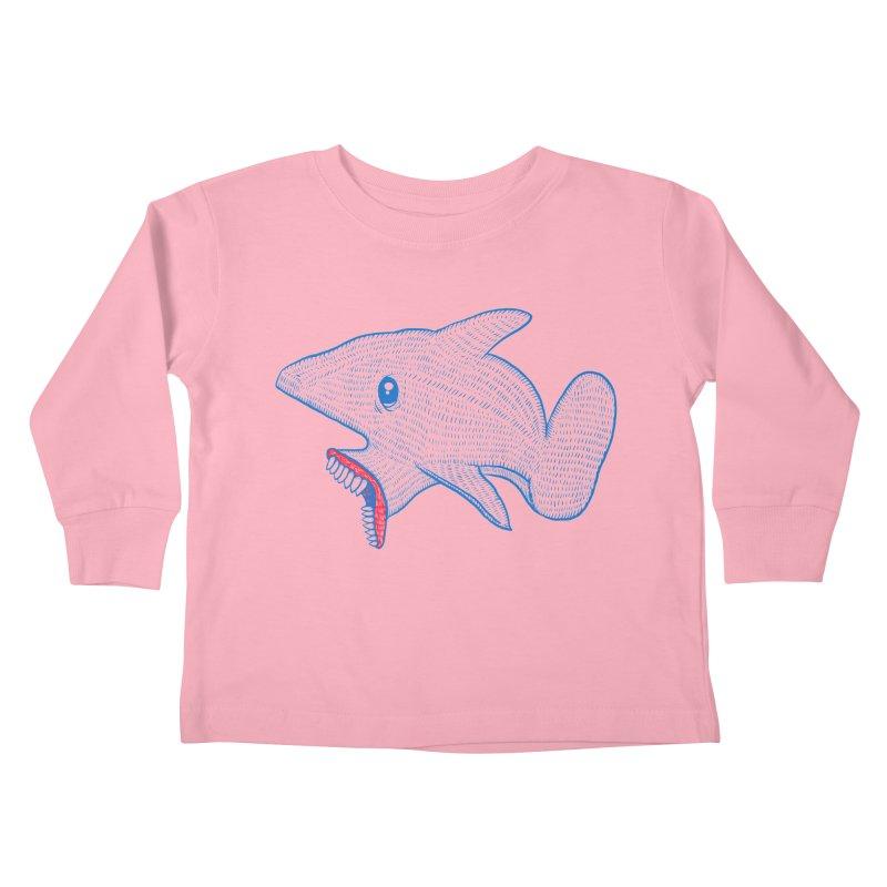 Shaaaark Kids Toddler Longsleeve T-Shirt by Fathi