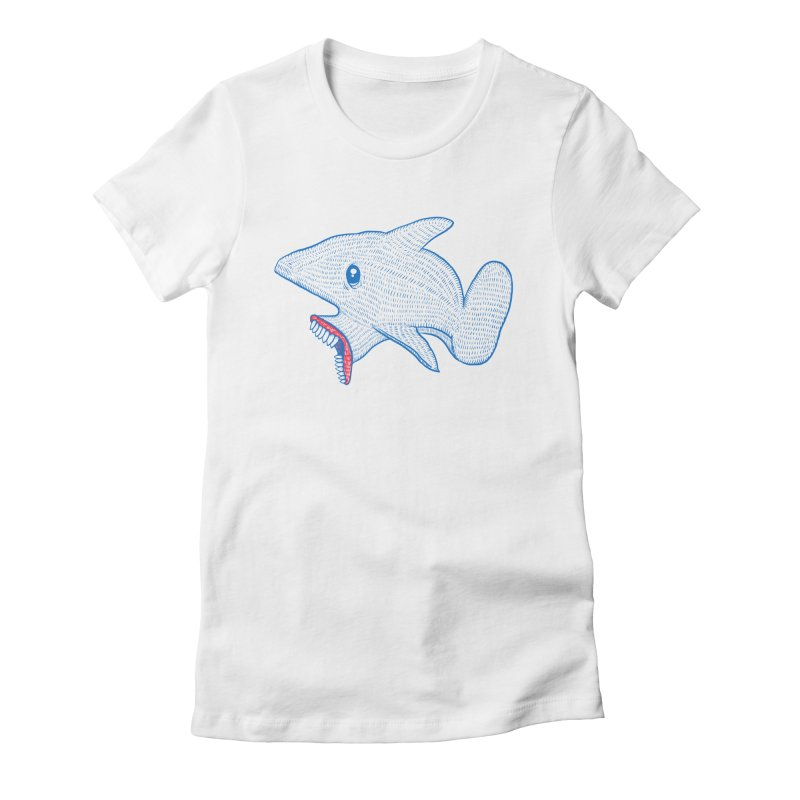Shaaaark Women's Fitted T-Shirt by Fathi
