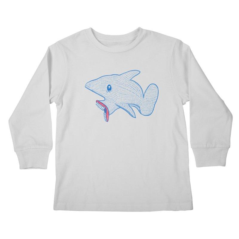 Shaaaark Kids Longsleeve T-Shirt by Fathi