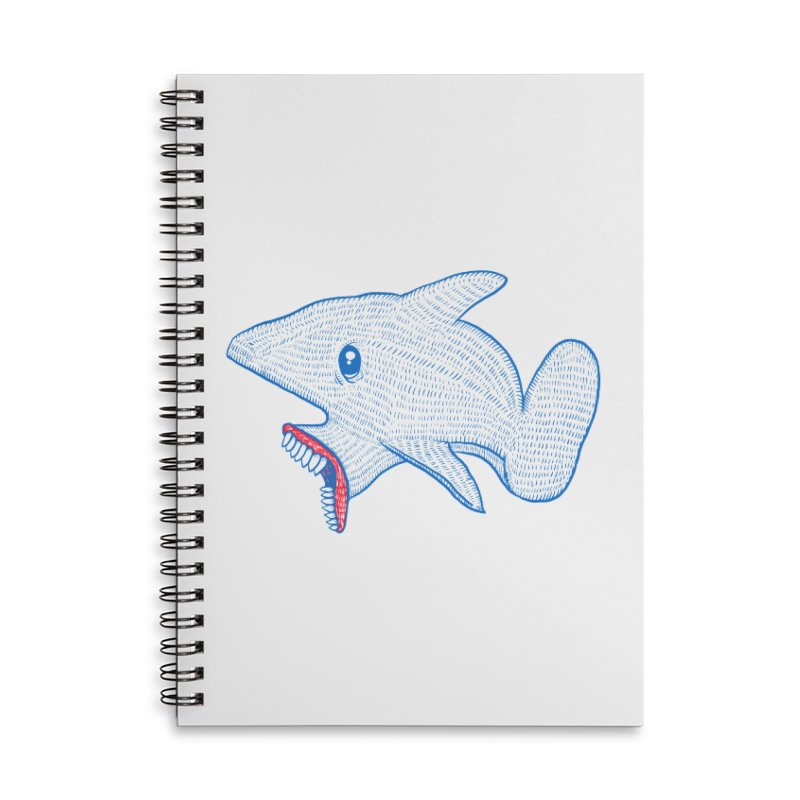 Shaaaark Accessories Lined Spiral Notebook by Fathi