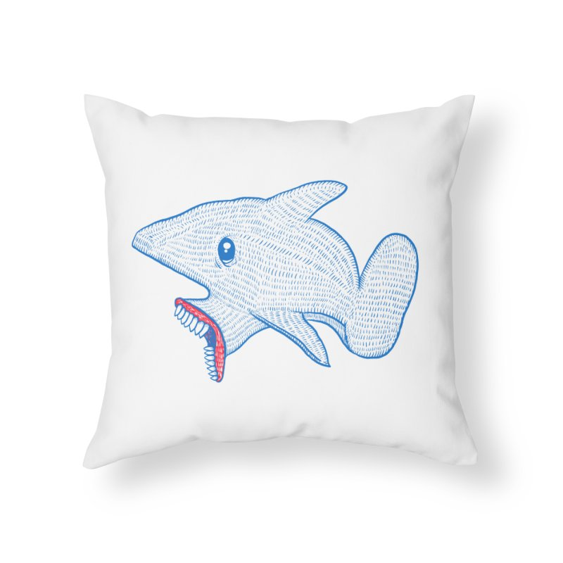 Shaaaark Home Throw Pillow by Fathi