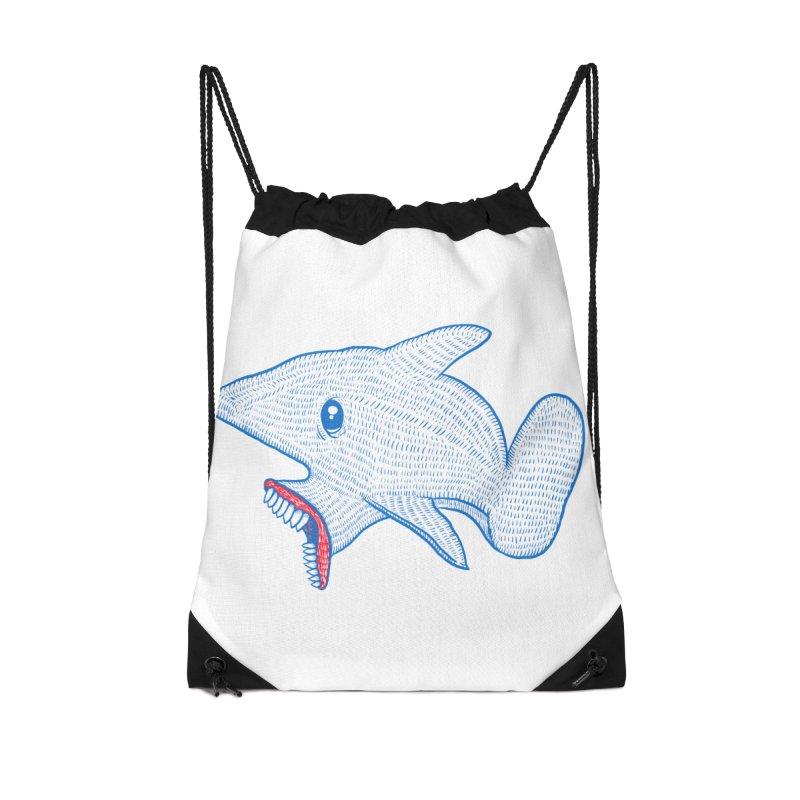 Shaaaark Accessories Drawstring Bag Bag by Fathi