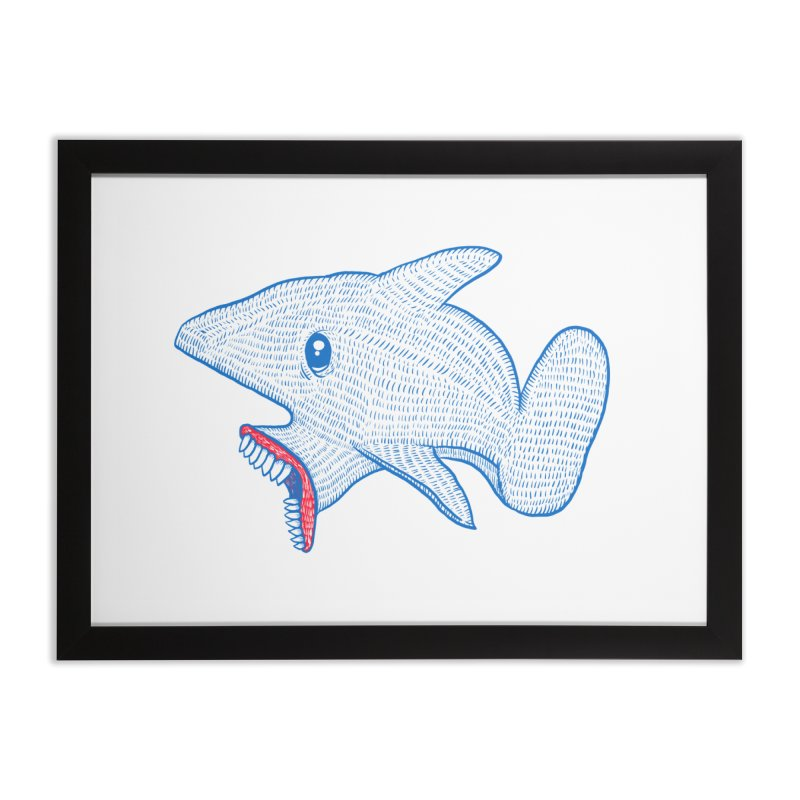 Shaaaark Home Framed Fine Art Print by Fathi