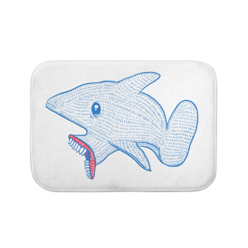Shaaaark Home Bath Mat by Fathi