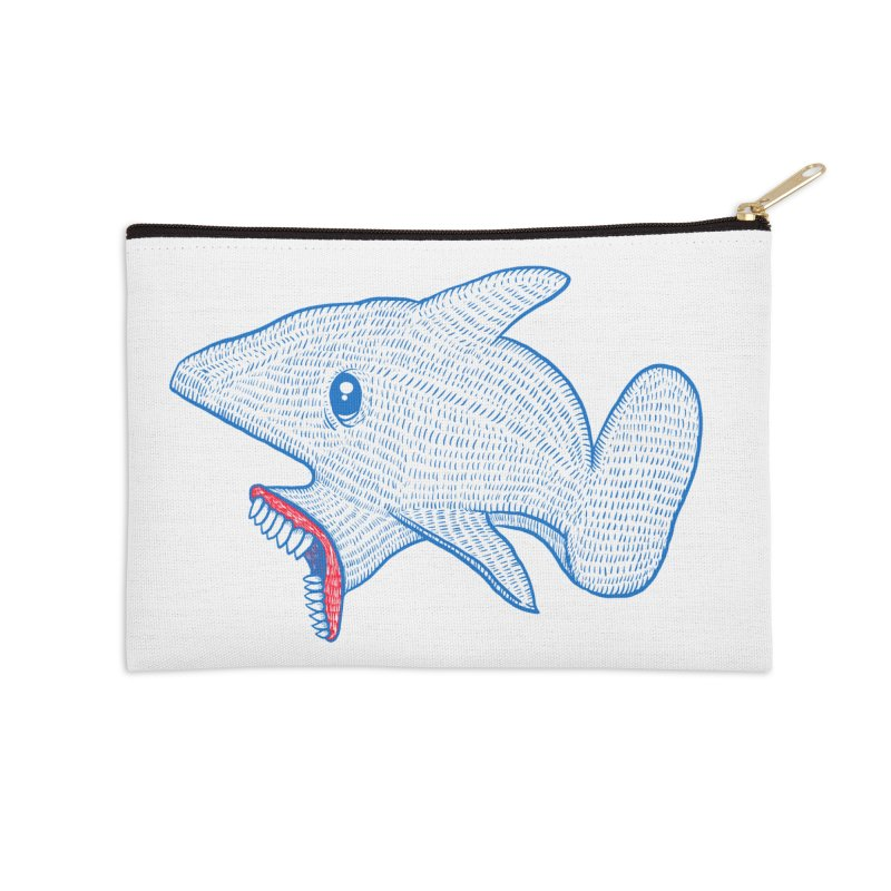 Shaaaark Accessories Zip Pouch by Fathi