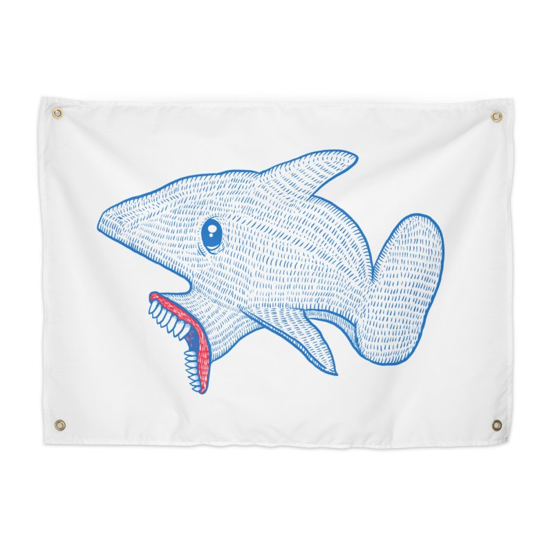 Shaaaark Home Tapestry by Fathi