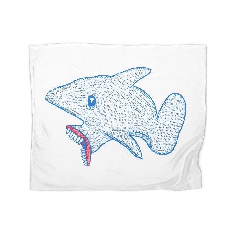 Shaaaark Home Blanket by Fathi