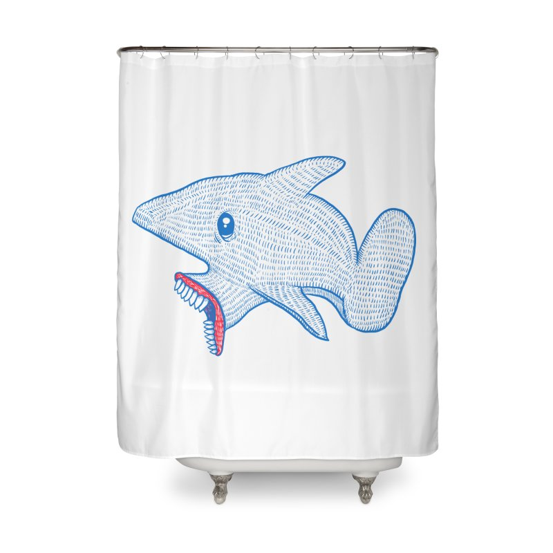Shaaaark Home Shower Curtain by Fathi