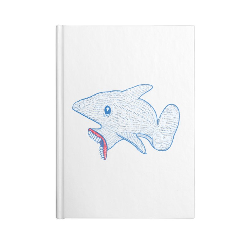 Shaaaark Accessories Lined Journal Notebook by Fathi