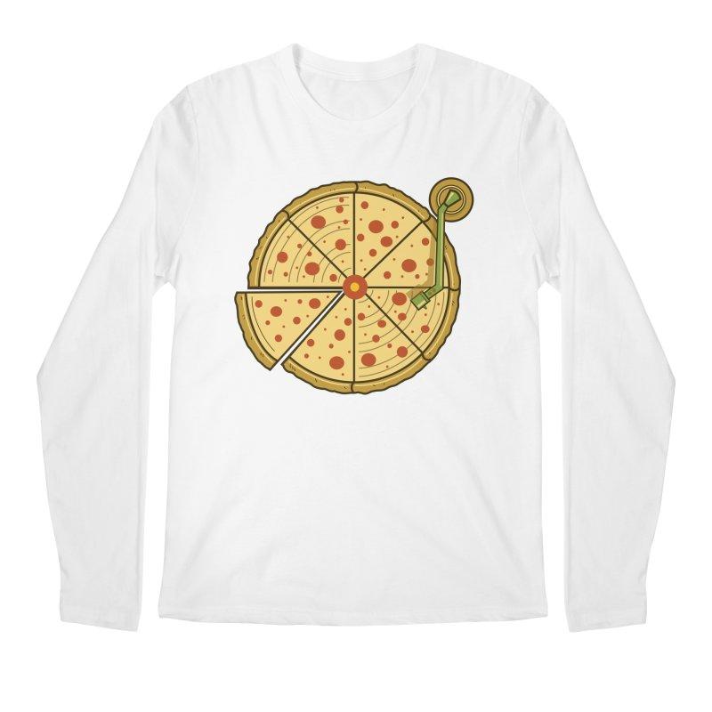 Pizza Vinyl Men's Regular Longsleeve T-Shirt by Fathi