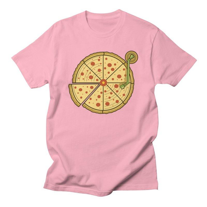 Pizza Vinyl Women's Regular Unisex T-Shirt by Fathi