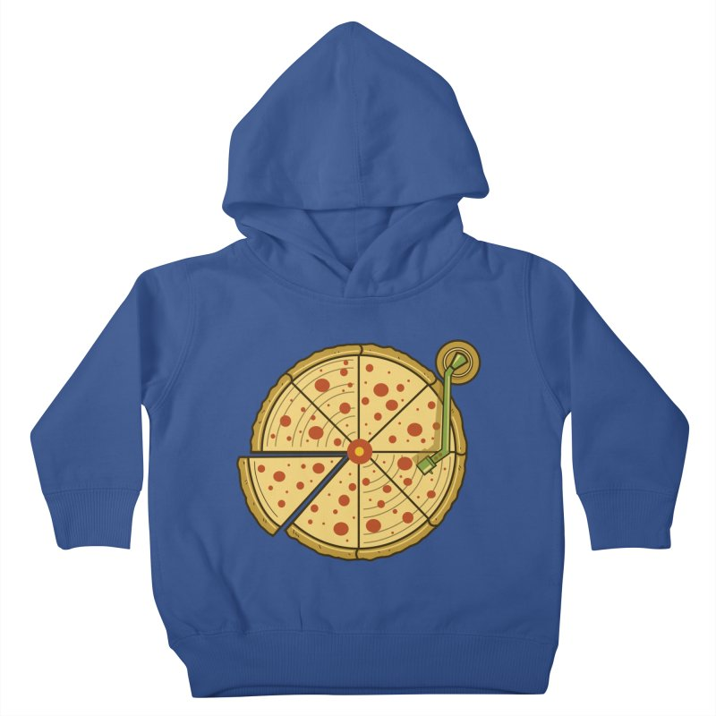 Piza Vinyl Kids Toddler Pullover Hoody by Fathi