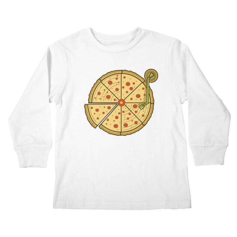 Piza Vinyl Kids Longsleeve T-Shirt by Fathi