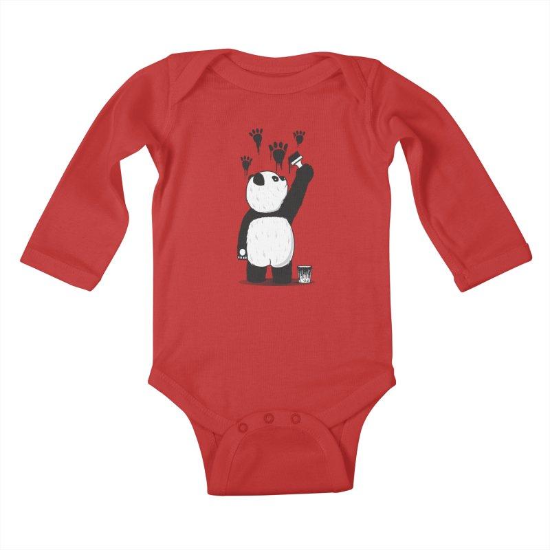 Pandalism Kids Baby Longsleeve Bodysuit by Fathi
