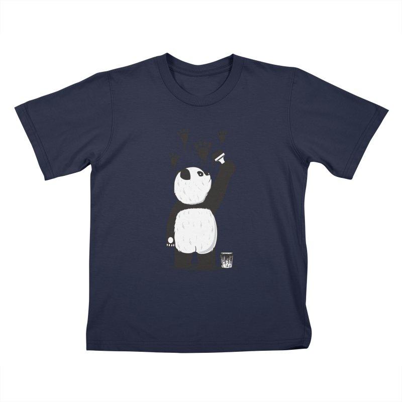 Pandalism Kids T-Shirt by Fathi