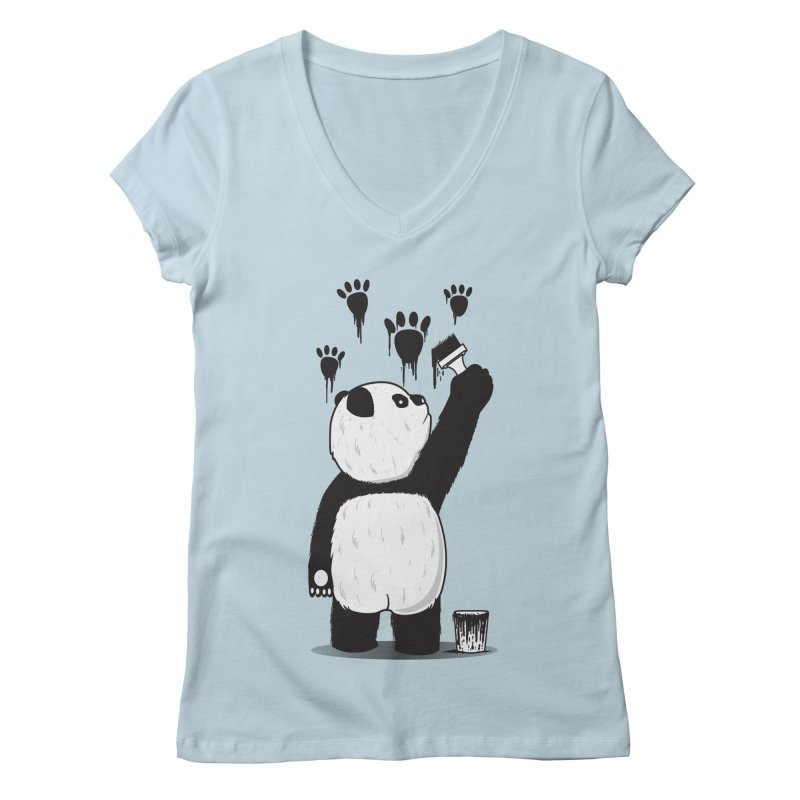 Pandalism Women's V-Neck by Fathi