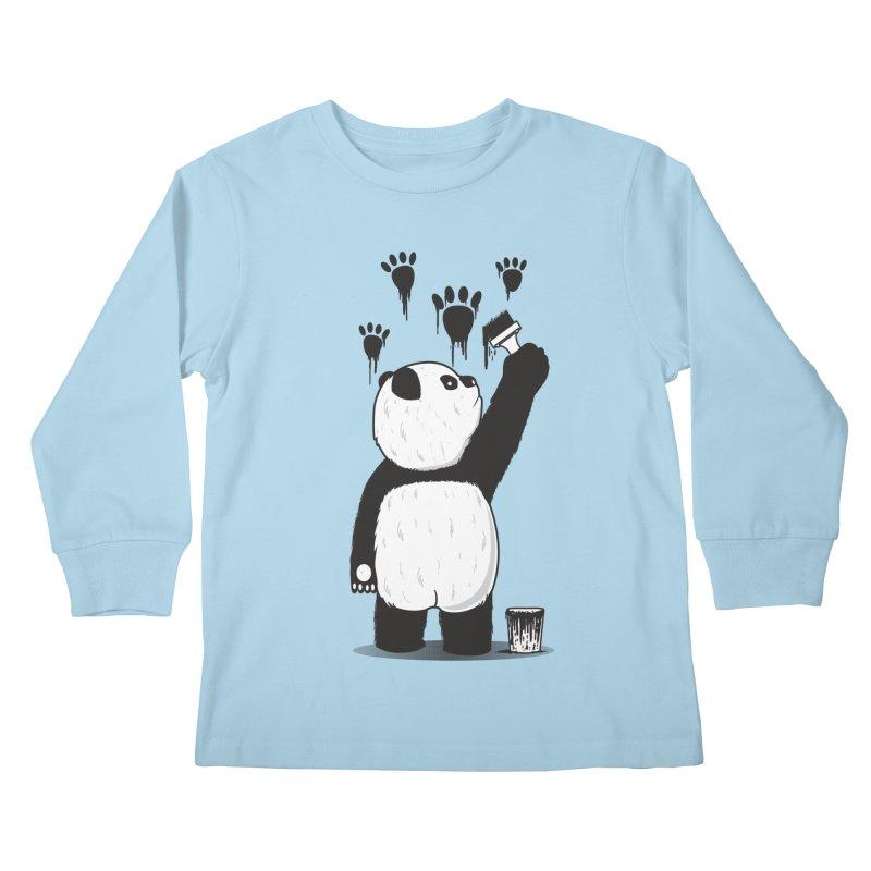 Pandalism Kids Longsleeve T-Shirt by Fathi