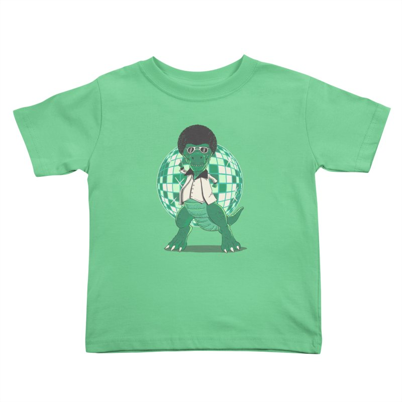 Discosaurs Kids Toddler T-Shirt by Fathi