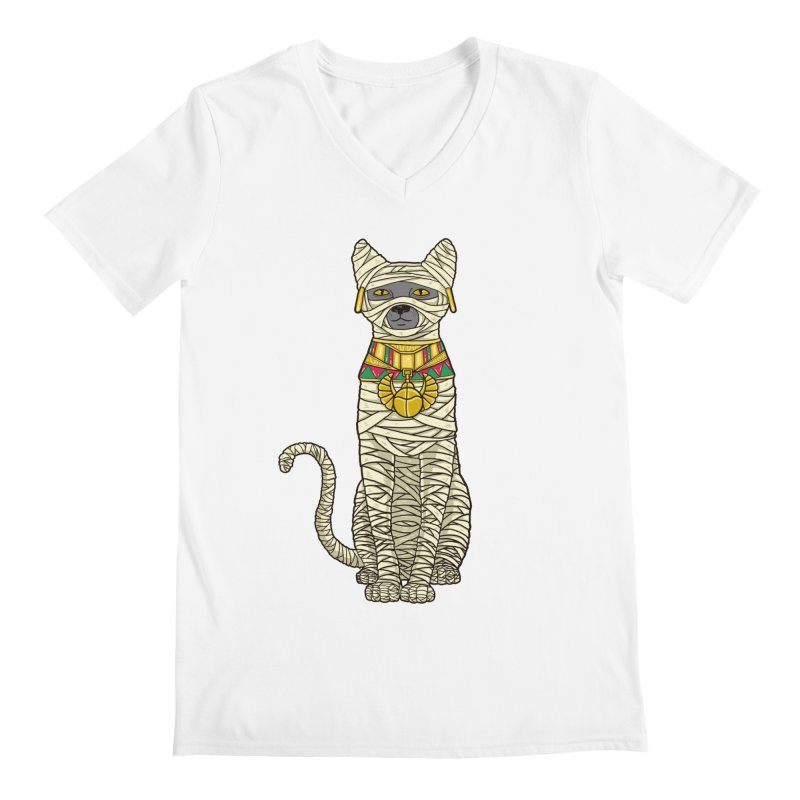Ancient Cat Return Men's V-Neck by Fathi