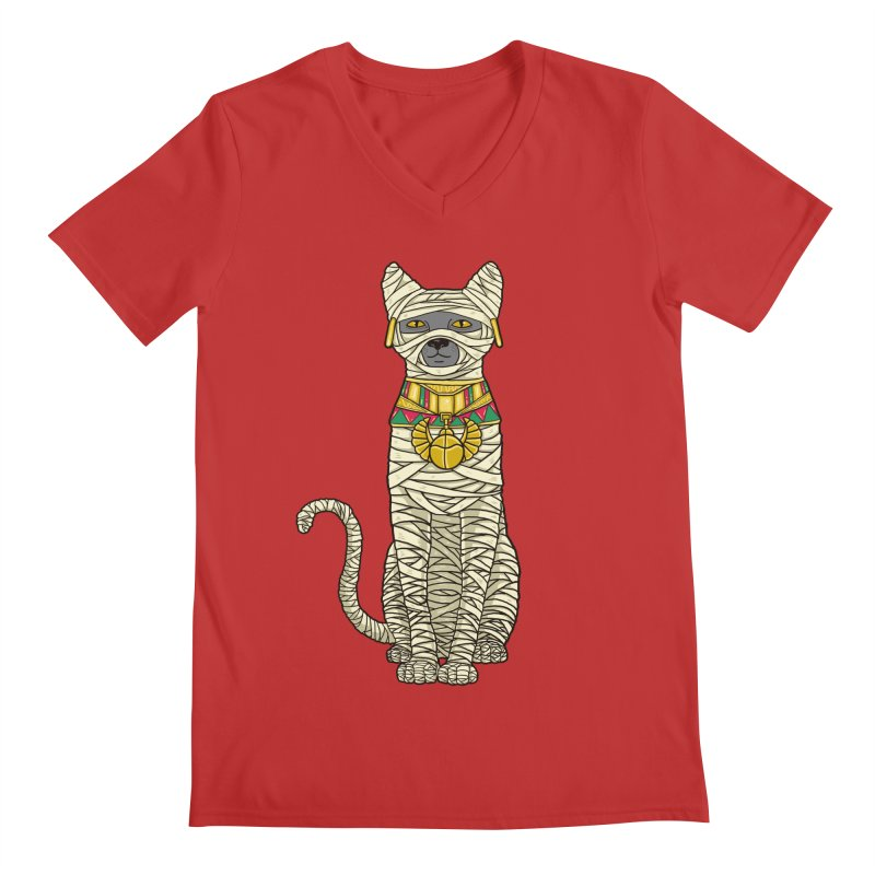 Ancient Cat Return Men's V-Neck by Fathi