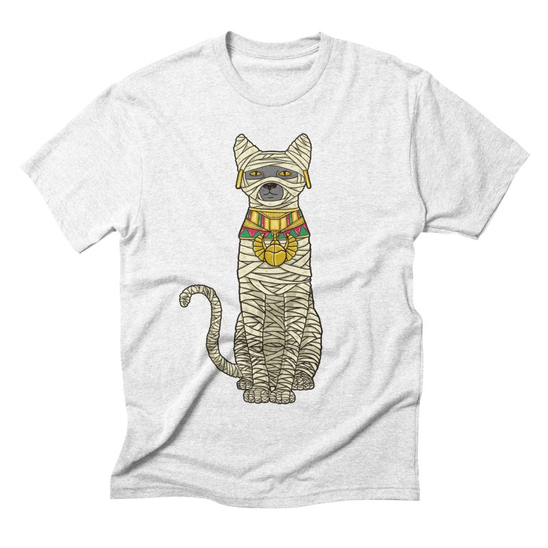 Ancient Cat Return Men's Triblend T-shirt by Fathi