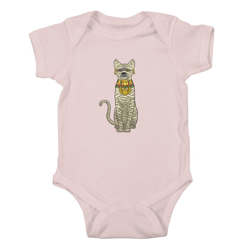 Ancient Cat Return Kids Baby Bodysuit by Fathi
