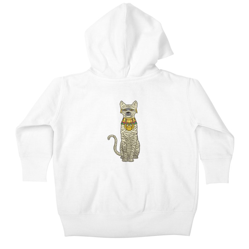 Ancient Cat Return Kids Baby Zip-Up Hoody by Fathi
