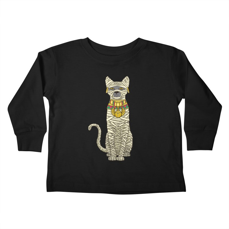 Ancient Cat Return Kids Toddler Longsleeve T-Shirt by Fathi