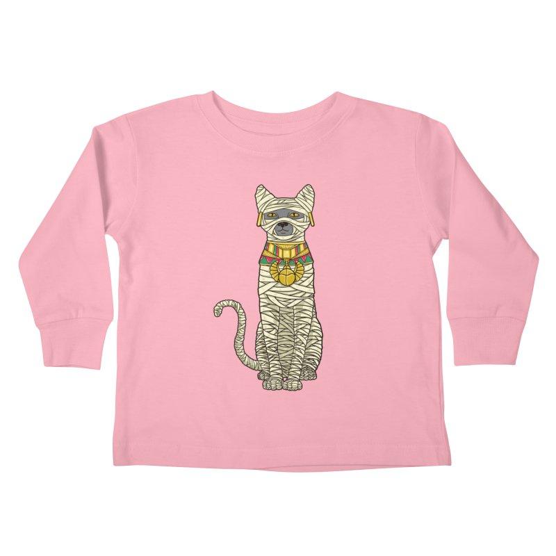 Ancient Cat Return Kids Toddler Longsleeve T-Shirt by Fathi