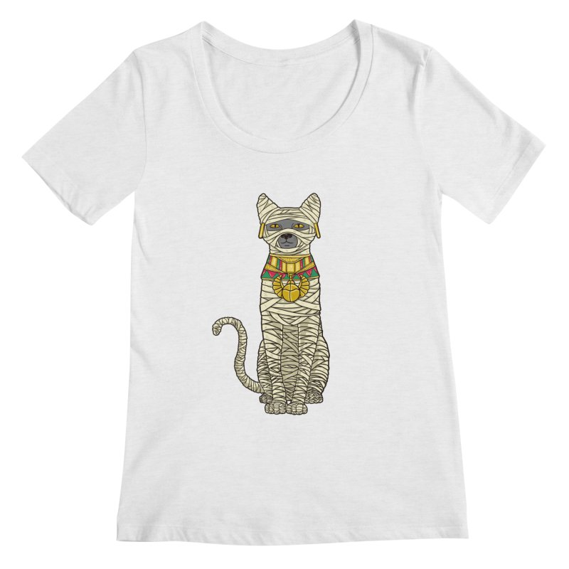 Ancient Cat Return Women's Scoop Neck by Fathi