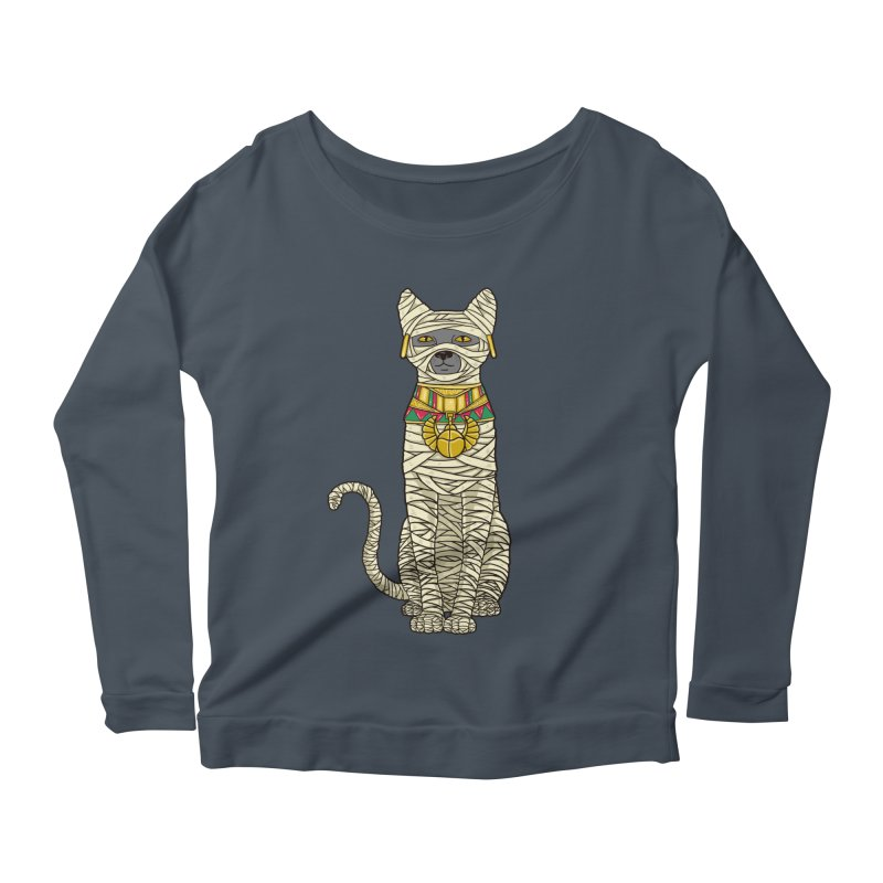 Ancient Cat Return Women's Longsleeve Scoopneck  by Fathi