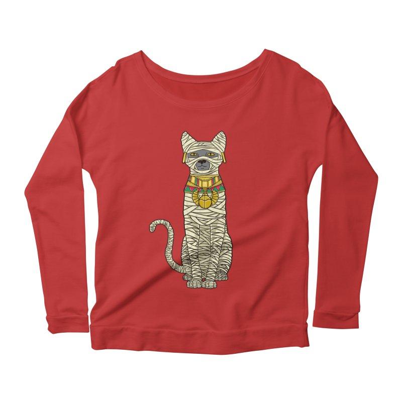 Ancient Cat Return Women's Longsleeve Scoopneck  by Fathi
