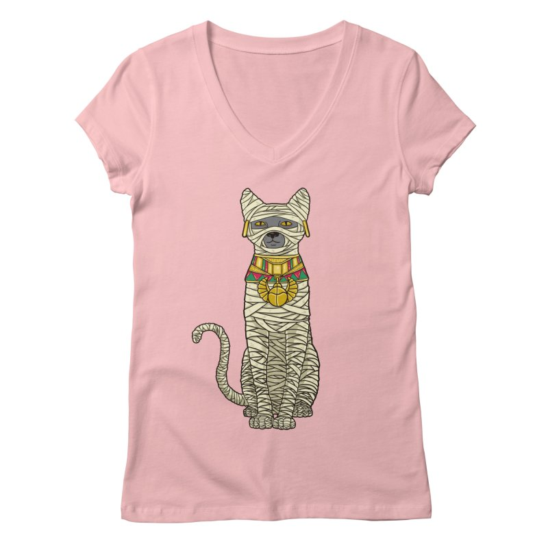 Ancient Cat Return Women's V-Neck by Fathi