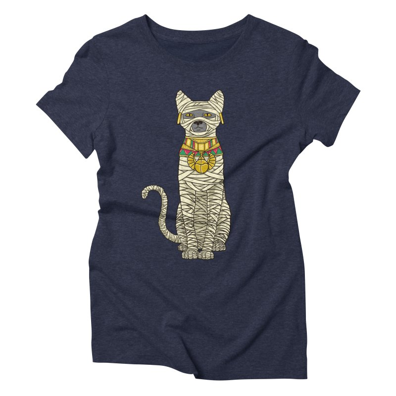 Ancient Cat Return Women's Triblend T-shirt by Fathi