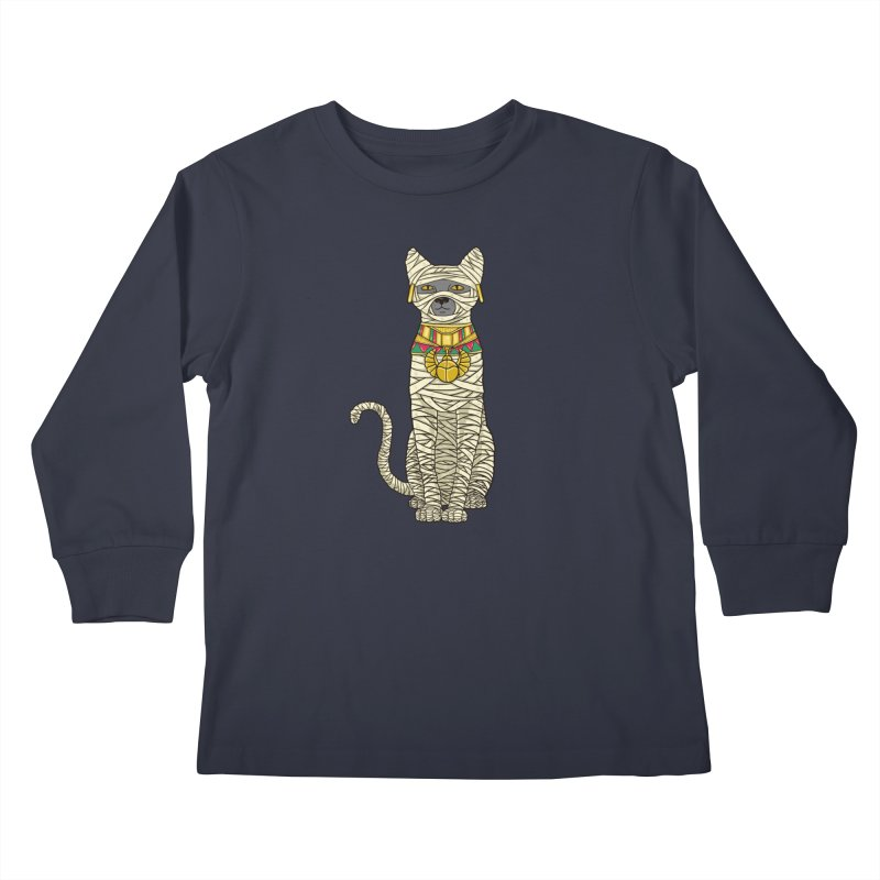 Ancient Cat Return Kids Longsleeve T-Shirt by Fathi